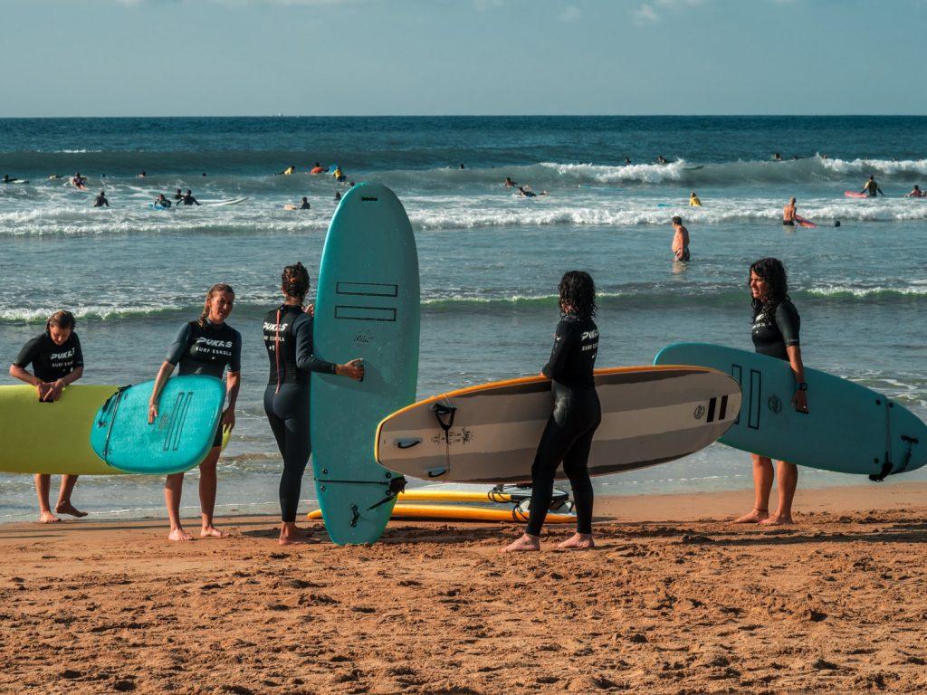 viaje de mtb y surf